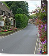 Thatch And Flowers Acrylic Print