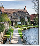 Thatched Cottage Thornton Le Dale Acrylic Print