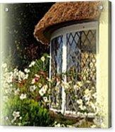 Thatched Cottage Window Acrylic Print
