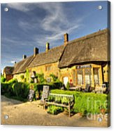Thatched Cottages At Great Tew  Acrylic Print