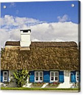Thatched Country House Acrylic Print