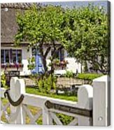 Thatched Roof Cottage Acrylic Print