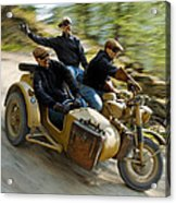 That's The Way To Ride An Army Bmw R75  Acrylic Print