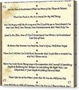 The 10 Commandments  For Pets  Antique Marble Acrylic Print