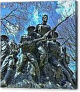 The 107th Infantry Memorial Sculpture Acrylic Print