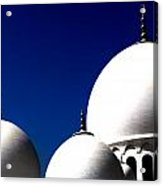The 3 Domes Acrylic Print by Peter Waters