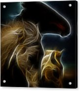 The 3 Shadow Horses Acrylic Print