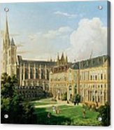 The Abbey Church Of Saint-denis And The School Of The Legion Of Honour In 1840 Oil On Canvas Acrylic Print