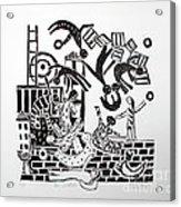 The Acrobats Acrylic Print by Barbara Sala