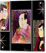 The Actors Sawamura-otani Oniji And Ichikawa Yaozo Acrylic Print