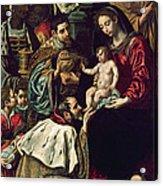 The Adoration Of The Magi, 1620 Oil On Canvas Acrylic Print
