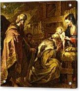 The Adoration Of The Magi Acrylic Print by Orazio de Ferrari