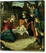 The Adoration Of The Shepherds, 1540s Acrylic Print