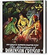 The Adventures Of Robinson Crusoe Acrylic Print