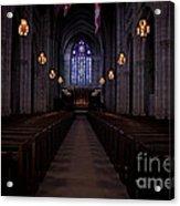 The Aisle Of Princeton Chapel Acrylic Print