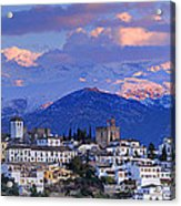 The Alhambra And Granada Acrylic Print