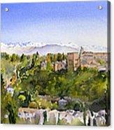 The Alhambra Granada Acrylic Print