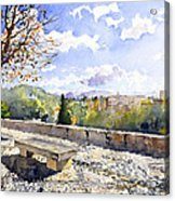 The Alhambra In Autumn Acrylic Print