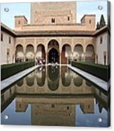 The Alhambra Palace Reflecting Pool 2 Acrylic Print by David  Ortiz