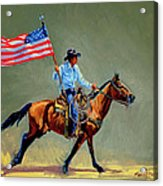 The All American Cowboy Acrylic Print