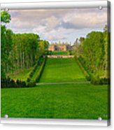 The Allee And The Castle Acrylic Print