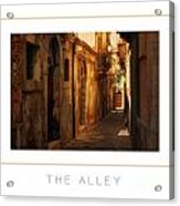 The Alley Poster Acrylic Print