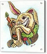 The Altered Easter Bunny Acrylic Print