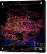 The Alton Belle In Neon Framed Acrylic Print