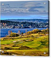 The Amazing Chambers Bay Golf Course - Site Of The 2015 U.s. Open Golf Tournament Acrylic Print