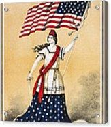 The American Flag A New National Lyric Acrylic Print