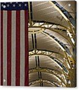 The American Flag At Reagan Airport Acrylic Print