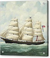 The American Ship Olive S Southard Of San Francisco In French Waters Off Le Havre Acrylic Print
