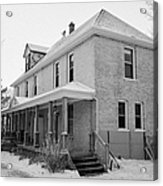 the ananda arthouse in the former st josephs rectory in Forget Saskatchewan Canada Acrylic Print