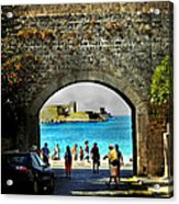 The Ancient City Of Rhodes Acrylic Print by Judy Paleologos