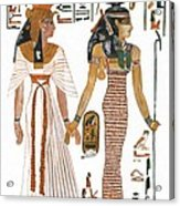 The Ancient Egyptian Goddess Isis Leading Queen Nefertari Acrylic Print