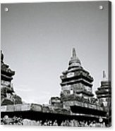 The Ancient Stupas Of Borobudur Acrylic Print