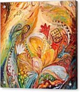 The Angels On Wedding Triptych - Left Side Acrylic Print