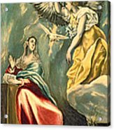 The Annunciation, C.1595-1600 Oil On Canvas Acrylic Print