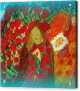 The Annunciation Acrylic Print by Maryann  DAmico