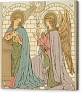 The Annunciation Of The Blessed Virgin Mary Acrylic Print by English School