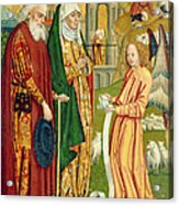 The Annunciation To Joachim And Anne, From The Dome Altar, 1499 Acrylic Print