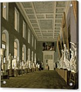 The Antiquities Gallery Of The Academy Of Fine Arts, 1836 Oil On Canvas Acrylic Print