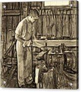 The Apprentice - Paint Sepia Acrylic Print