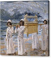 The Ark Passes Over The Jordan Acrylic Print by James Tissot