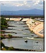 The Arkansas River And Pike's Peak Acrylic Print