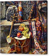 The Armenian Still-life With A Armenian Doll Acrylic Print