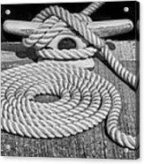 The Art Of Rope Lying Acrylic Print
