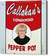 The Artist as Andy Warhol Acrylic Print