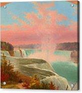 The Artist At Niagara Acrylic Print