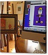 The Artist In His Studio Acrylic Print